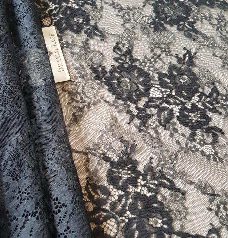 Black lace fabric. Photo 7