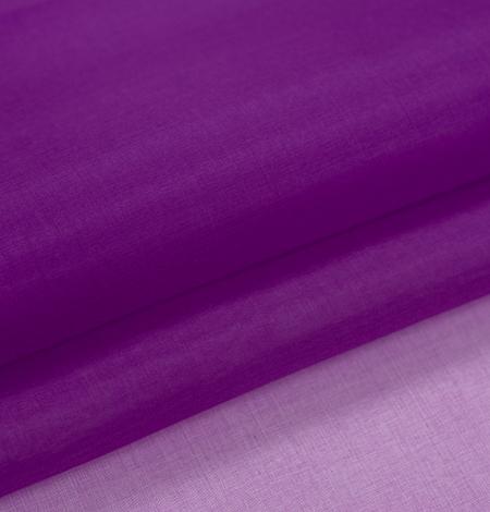 Purple silk organza fabric . Photo 6