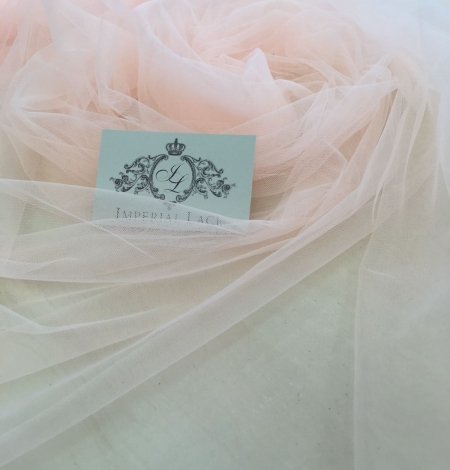 Orange tulle fabric. Photo 8