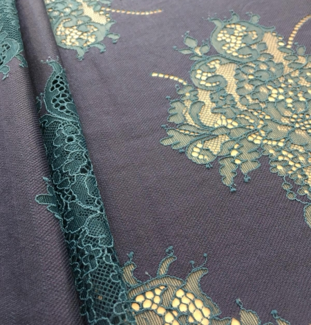 Dark lilac lace fabric. Photo 5