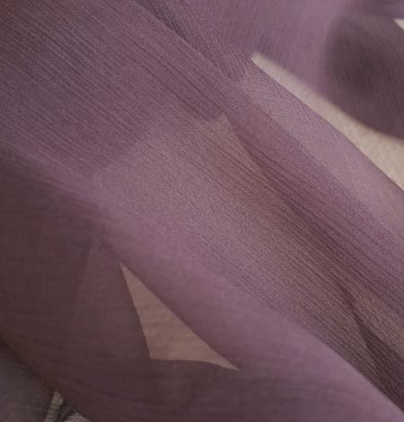 Dark lilac light silk crincle chiffon fabric. Photo 3