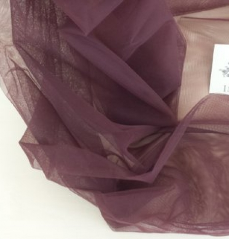 Brown tulle fabric. Photo 3