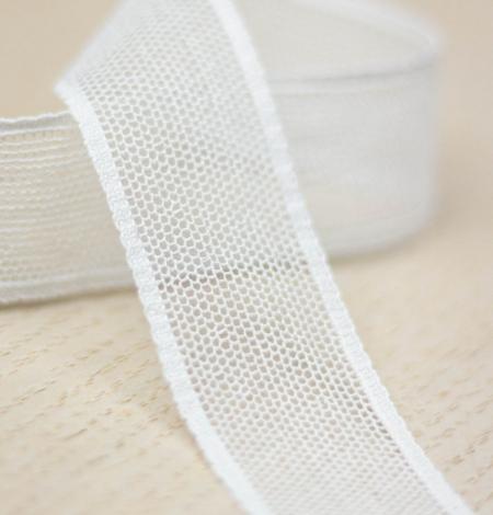 Off white mesh pattern lace trim. Photo 1