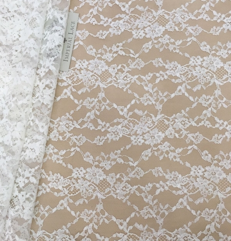 Lace fabric ivory color. Photo 2