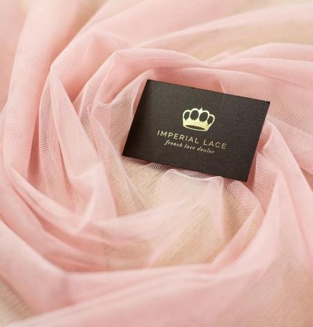Old rose pinkish soft tulle fabric. Photo 1