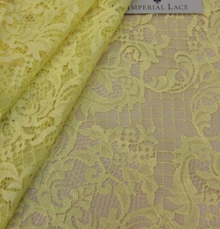 Yellow Lace Fabric. Photo 1