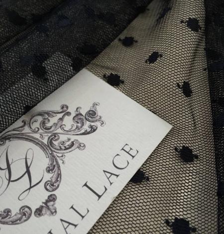 Black tulle fabric. Photo 4