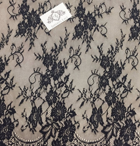 Black lace fabric Chantilly Lace. Photo 3