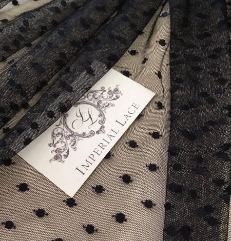 Black tulle fabric. Photo 3