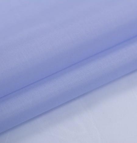 Blue with grey shade silk organza fabric . Photo 5