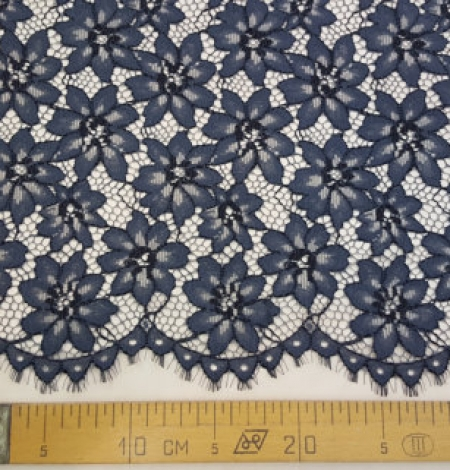 Blue with Gray Lace Fabric. Photo 5