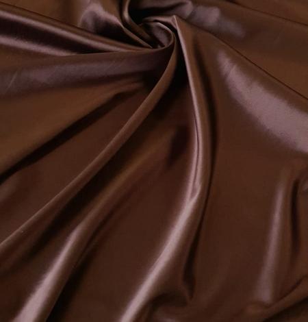Chocolate brown satin with elastane. Photo 1