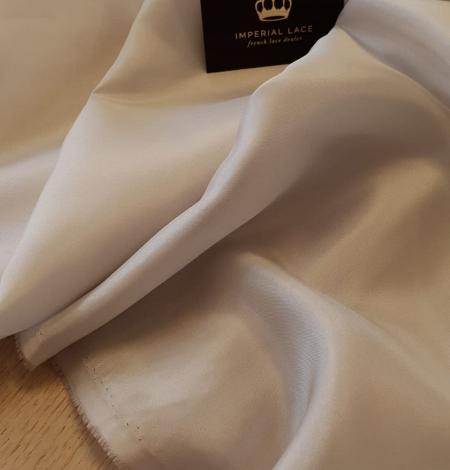 Greyish beige 100% silk lining fabric . Photo 2