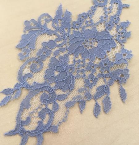 Blue guipure lace applique . Photo 2
