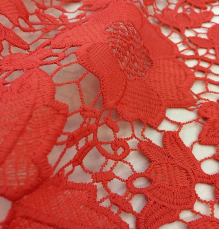 Coral Lace Fabric. Photo 1