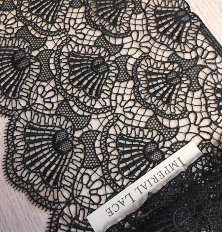 Black macrame lace trimming. Photo 6