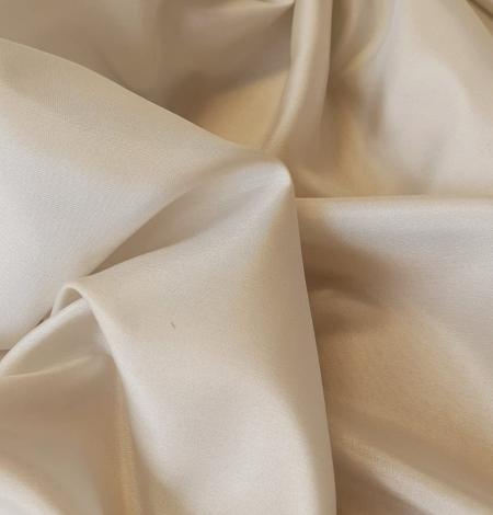 Light beige silk lining fabric. Photo 5