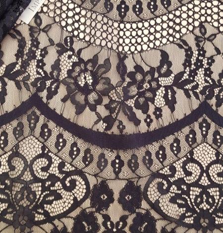 Black lace fabric, French Lace, Alencon Lace. Photo 1