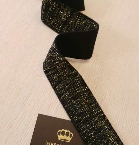 Black with gold rubber ribbon application. Photo 2
