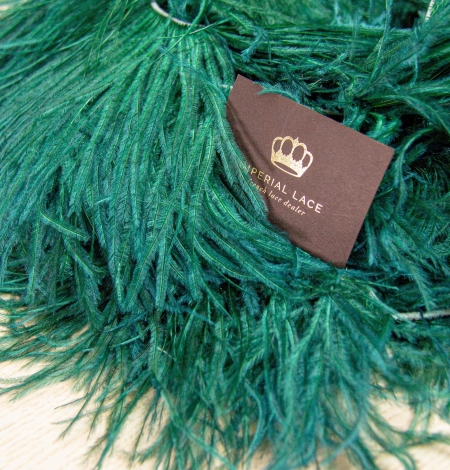 Dark green ostrich feather. Photo 1