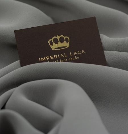 Dark gray silk crepe fabric. Photo 6