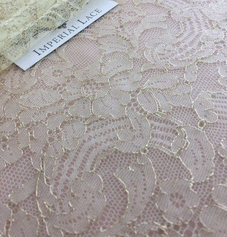 Gold lace fabric. Photo 2