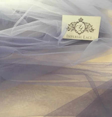 Lilac ombre tulle fabric. Photo 6