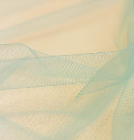 Laguna sea green soft tulle fabric from Italy. Photo 8