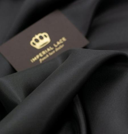 Black grey silk lining fabric . Photo 3