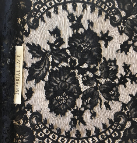 Black lace trimming from France. Photo 2