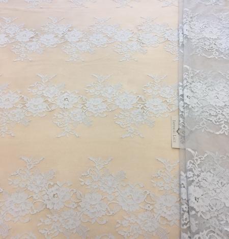 Gray lace fabric. Photo 4