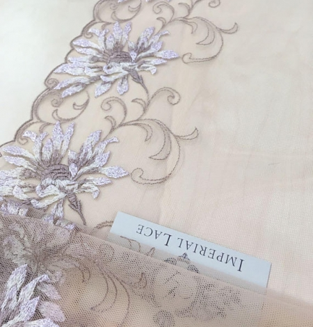 Nude soft embroidery Lace Trim. Photo 2