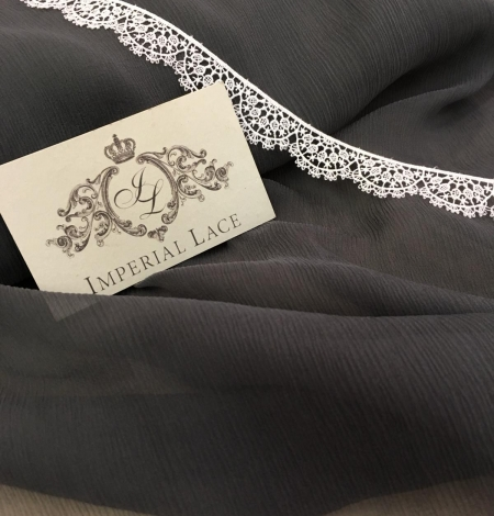 Dark grey chiffon fabric. Photo 2