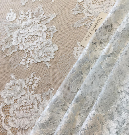 Light blue lace fabric. Photo 4