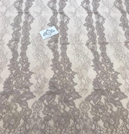 Dark ecru lace fabric. Photo 3