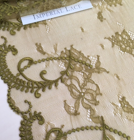 Khaki Lace trim. Photo 2