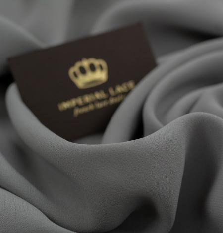 Dark gray silk crepe fabric. Photo 8