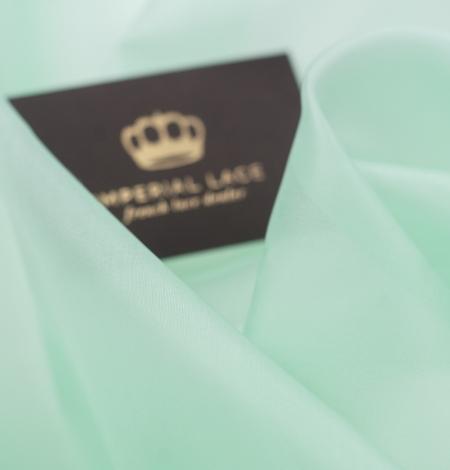 Lettuce green silk organza fabric. Photo 3