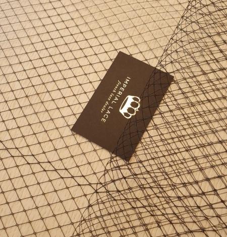 Black hat net tulle fabric. Photo 2