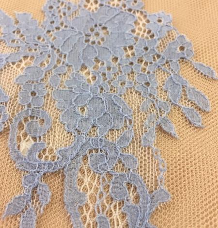 Blue guipure lace applique . Photo 4