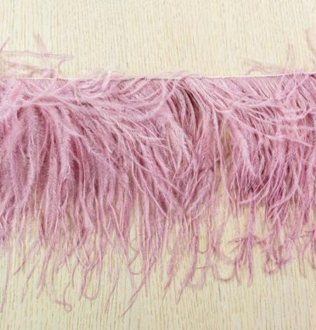 Light raspberry pink natural ostrich feather. Photo 5