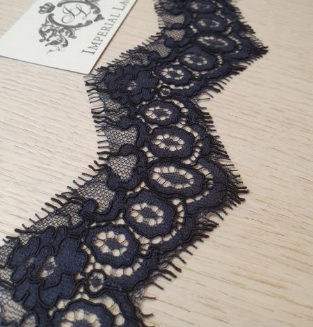 Dark bluish grey guipure lace trimming. Photo 1