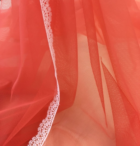 Orange tulle fabric. Photo 9