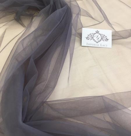 Grey tulle fabric. Photo 3