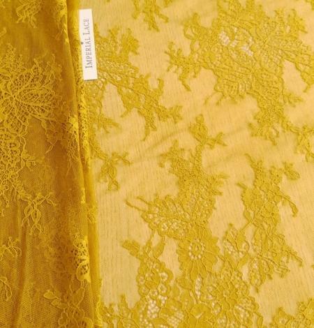 Mustard lace fabric. Photo 5