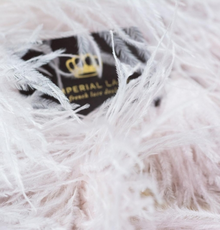 Light pink with grey shade soft natural ostrich feather. Photo 1