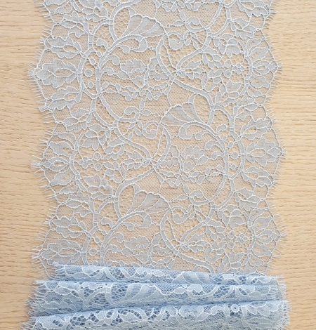 Light blue floral pattern chantilly lace trimming. Photo 7