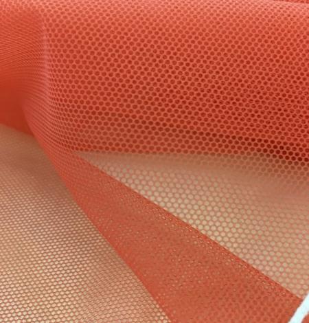 Orange tulle fabric. Photo 5