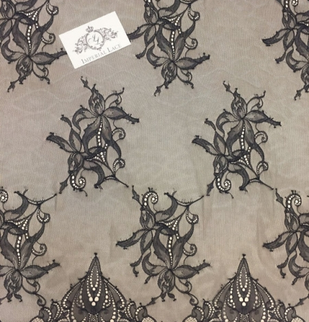 Black lace fabric by the yard. Photo 4