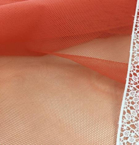 Orange tulle fabric. Photo 4